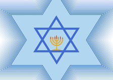 The Star of David and Menorah Stock Photography