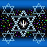 Star of David and Menorah Stock Image
