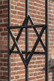 Star of David on metal fence of Old Synagogue in Cracow , Poland Royalty Free Stock Image