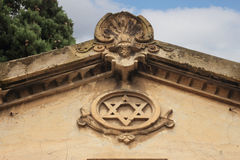 Star of David on monument Stock Photography