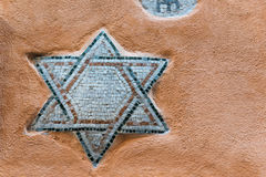 Star of David. Mosaic of Star of David on the wall of Roman Ghetto house Stock Photography