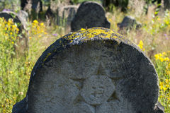 Star of David on the old gravestone Stock Photography