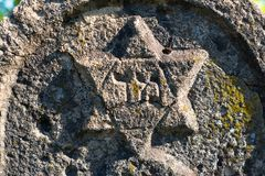 Star of David on the old gravestone Royalty Free Stock Photos