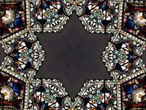 Star of david pattern  Royalty Free Stock Photo