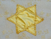 Star of David remnant of tapestry Stock Image