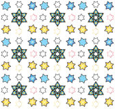 Star of David seamless pattern, vector. Festive background for children's holiday festival, art,print, web design Stock Image