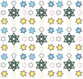 Star of David seamless pattern, vector. Festive background for children's holiday festival, art,print, web design stock illustration