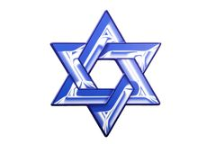 A Star of David sign for Hanukkah. A Star of David Hanukkah decoration against a white background royalty free stock photos