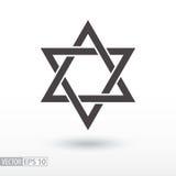 Star of David. Star flat icon. Sign Star Stock Photo