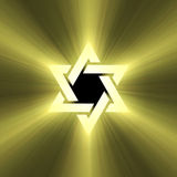 Star of David sun light flare Royalty Free Stock Image