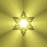 Star of David sun light flare Stock Image