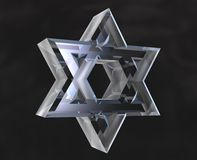 Star of David Symbol in glass Royalty Free Stock Images