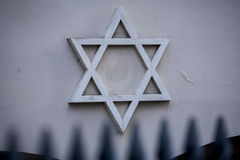 Star of David, symbol of Judaism on wall. Star of David, symbol of Judaism, the symbol of the Jews Stock Photography