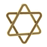 Star of David symbol made of gold Royalty Free Stock Photos