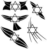 Star of David tattoo in black Stock Photo