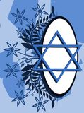 Star of David tattoo on floral background Stock Photography