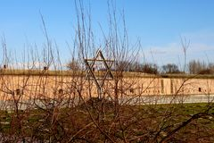 The Star of David Theresienstadt concentration camp stock images