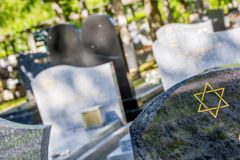 Star of David on the tombstone. Jewish cemetery: Star of David on the tombstone Stock Photography