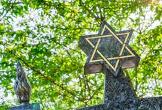 Star of David on the tombstone Royalty Free Stock Images