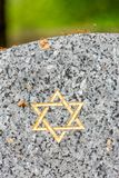 Star of David on the tombstone Stock Photos