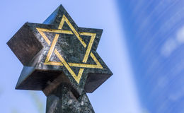 Star of David on the tombstone Stock Photo