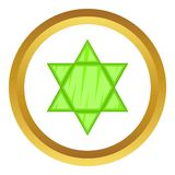 Star of David vector icon Stock Images