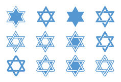 Star of David. Vector illustration. Star of David isolated on white background. Vector illustration Stock Photography