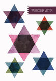 Star of david watercolor set. . Vector Illustration. Royalty Free Stock Image
