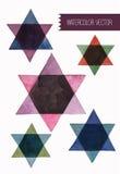 Star of david watercolor set. . Vector Illustration. Royalty Free Stock Image