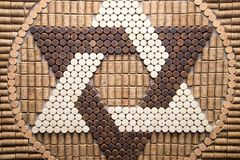 The star of David from wine corks in the jewish tradition, david symbol, religion Royalty Free Stock Photos