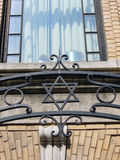 Star of david wrought iron fence New York Royalty Free Stock Photos