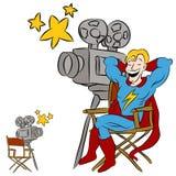 Star de cinéma de Superhero illustration de vecteur