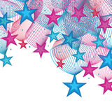 Star decor card Royalty Free Stock Images