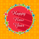 Star decorated frame for Happy New Year. Royalty Free Stock Photos