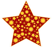 Star decoration Royalty Free Stock Photos