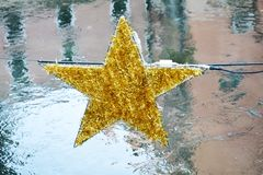 Star decoration on Sile river, Treviso Royalty Free Stock Images