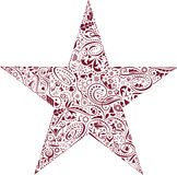 Star of Decorations Stock Image