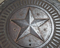 Star design in metal Royalty Free Stock Images
