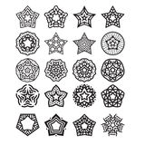Star design set vector. Creative style star design set vector illustration Stock Photo