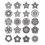 Star design set vector Stock Photo