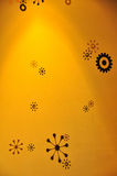 Star designs on yellow background Stock Images