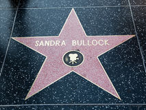Star di Hollywood del manzo di Sandra fotografia stock