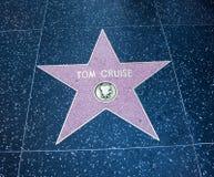 Star di Hollywood del Tom Cruise fotografie stock