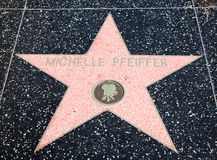 Star di Hollywood di Michelle Pfeiffer fotografia stock libera da diritti