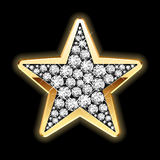Star in diamonds. Detailed illustration. Stock Photography