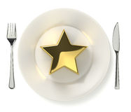 Star dish Stock Photography