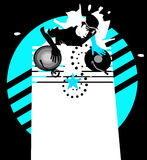 Star dj - cyan Royalty Free Stock Image