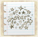 Star doodle illustration, vector icon Stock Image