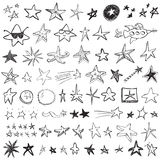 Star Doodles. Hand-drawn doodles of stars Royalty Free Stock Images
