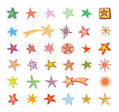 Star Doodles, hand drawn vector illustration Royalty Free Stock Images